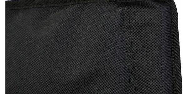 Divero 33436 Kempingová sada - 2x skládací židle s držákem - černá2