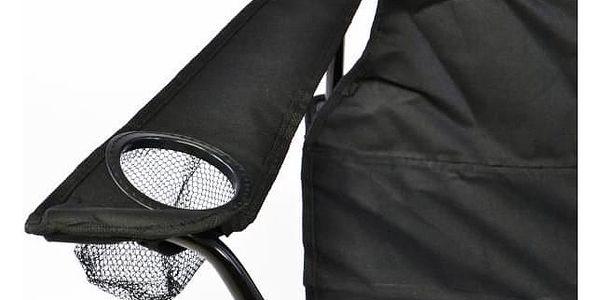Divero 33436 Kempingová sada - 2x skládací židle s držákem - černá5