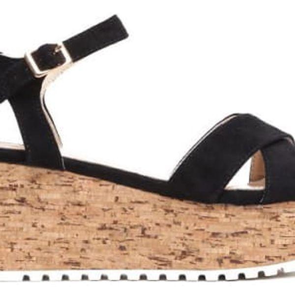 Dámské černé sandály na platformě Violla 2081