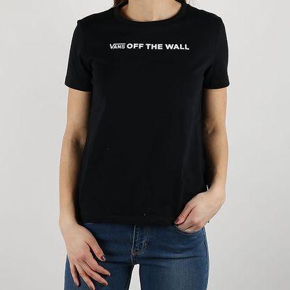 Tričko Vans Wm Brand Stripe Black Černá