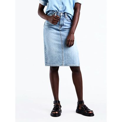 Sukně LEVI'S Side Slit Skirt Blue Waves Modrá