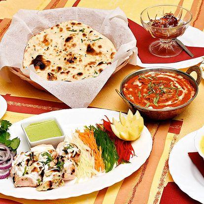 Indické hody: 4chodové menu pro 1, 2 nebo 4