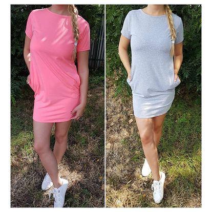 Jednobarevné šaty s kapsičkami Annie