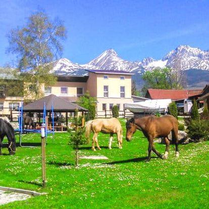 Vysoké Tatry s polopenzí a jízdou na koni