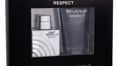David Beckham Respect dárková kazeta pro muže toaletní voda 40 ml + sprchový gel 200 ml