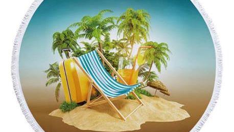 Kulatá plážová deka v 9 provedeních