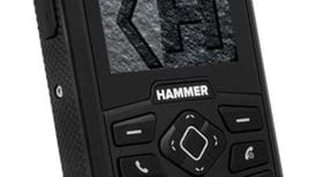 Mobilní telefon myPhone HAMMER 3 Plus Dual SIM černý + dárek (TELMYHHA3PBK)