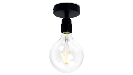 Černé stropní svítidlo Bulb Attack Uno Basic