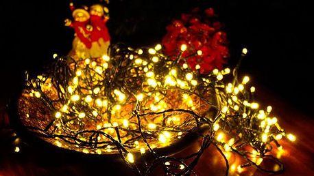 Nexos 33555 Vánoční LED osvětlení 40 m - teple bílé 400 LED s časovačem