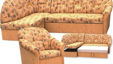 Rohová rozkládací sedací souprava MODENA LUX (v látce Regent)