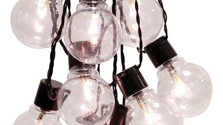 Černý světelný LED řetěz vhodný do exteriéru Best Season Party, 16 světýlek