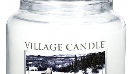 VILLAGE CANDLE Svíčka ve skle Sleigh Ride - střední, bílá barva, sklo