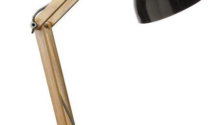 Černá stolní lampa z borovicového dřeva a kovu Red Cartel Dexter