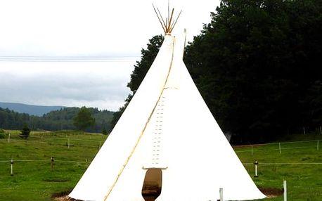 Zážitek v podobě nocování v teepee pro 2-6 osob v Jizerských horách.
