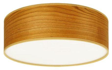Stropní svítidlo z přírodní dýhy v barvě třešňového dřeva Sotto Luce TSURI,Ø30cm