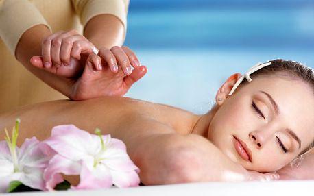 75min. masáž dle výběru a blahodárný zábal