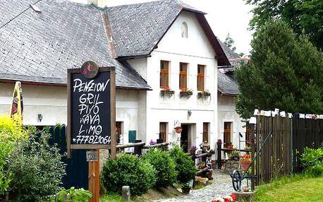 Letní pohodový pobyt ve staročeském Penzionu Sucháč, snídaně, opékání špekáčků, zapůjčení kol.