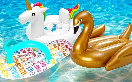 Velká nafukovací lehátka, dětské kruhy i bazének