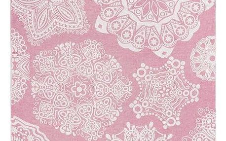 Růžová hammam osuška Kate Louise Isabella, 165x100cm