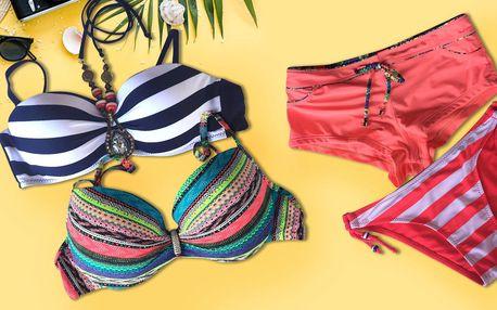 Dámské plavky: pruhované i jednobarevné