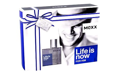 Mexx Life Is Now For Him EDT dárková sada M - EDT 30 ml + sprchový gel 50 ml