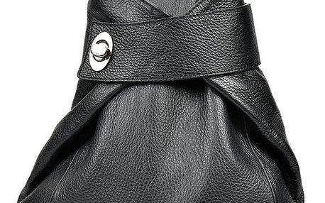 Černý kožený batoh Anna Luchini Louisa
