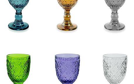 Sada 6 barevných skleněných pohárů Villa d'Este Marrakech, 280 ml