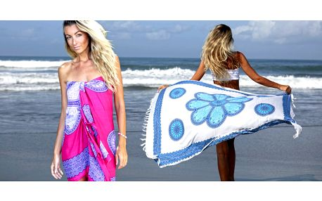 Ručně barvené sarongy z ostrova Bali