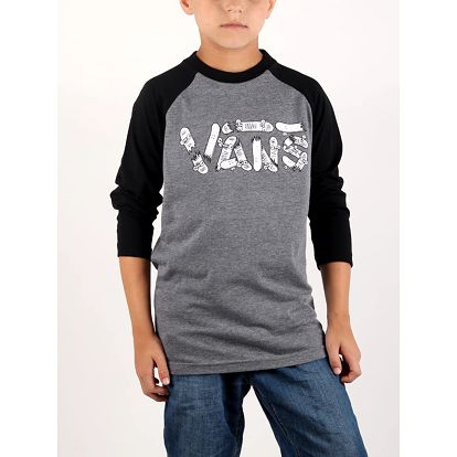 Tričko Vans By Focus Raglan Heather Grey Šedá