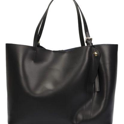 Černá kožená kabelka Lisa Minardi Eunice