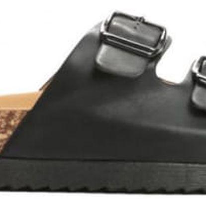 Dámské černé pantofle Gato 6238