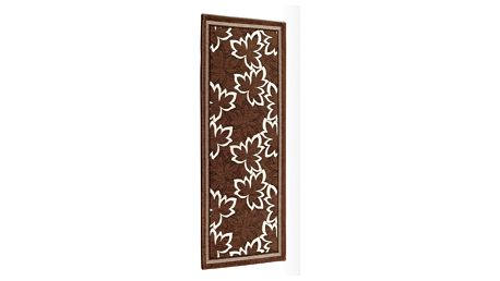 Hnědý vysoce odolný kuchyňský koberec Webtappeti Maple Marrone,55x115cm