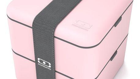 Růžový obědový box Monbento Square
