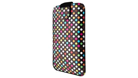 """Pouzdro na mobil flipové FIXED Soft Slim Elements 5XL+ (vhodné pro 5,2"""" - 5,7"""") - rainbow dots (FIXSOS-RAD-5XL+)"""