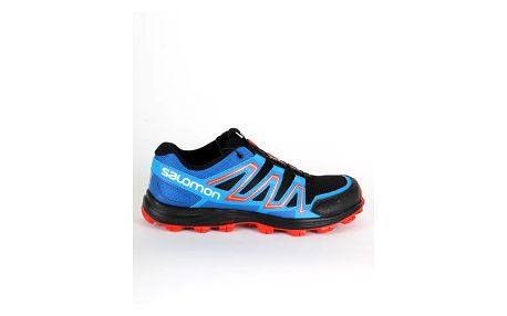 Boty Salomon SPEEDTRAK BLACK/Blue Yonder/Lava Orange Modrá