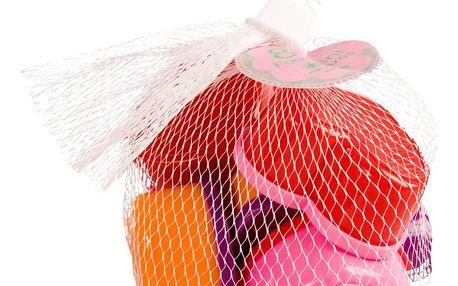 rice Plastové dózičky s víčky Hearts - set 8 ks, červená barva, růžová barva, fialová barva, plast