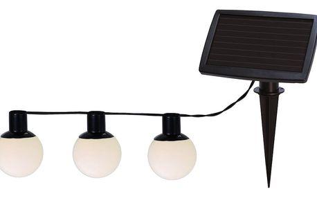 Venkovní solární světelný LED řetěz Best Season Balls Combo, 6 světýlek
