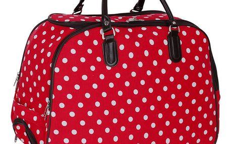 Dámská cestovní taška Dot 309 červená