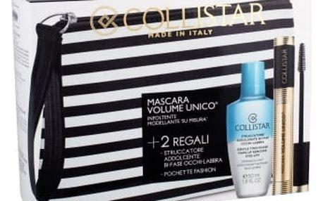 Collistar Volume Unico dárková kazeta pro ženy řasenka 13 ml + odličovací přípravek Gentle Two Phase 50 ml + kosmetická taška Intense Black