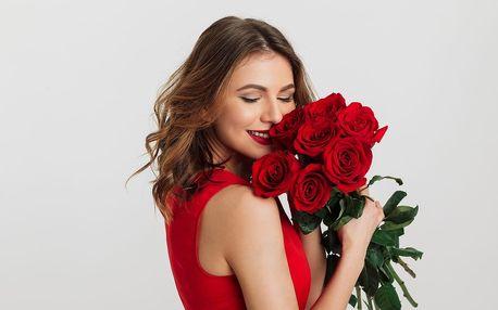 Kytice červených růží s osobním vzkazem a doručením po Praze
