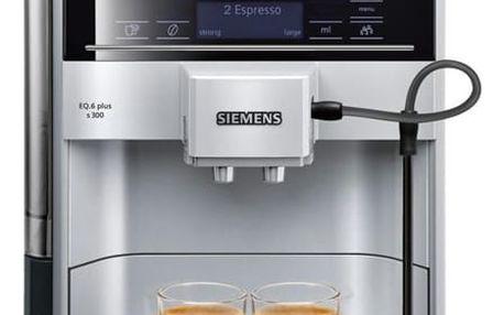 Espresso Siemens EQ.6 TE653311RW stříbrné + dárek