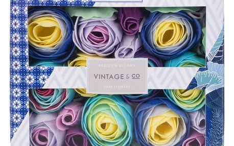 HEATHCOTE & IVORY Mýdlové květy do koupele Braids & Blooms, modrá barva, papír