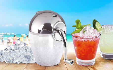 Ruční drtič ledu na přípravu osvěžujících drinků