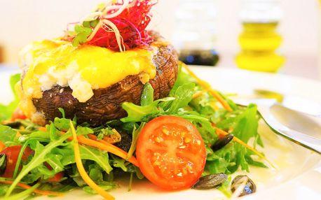 Letní salát s grilovaným Portobello žampionem