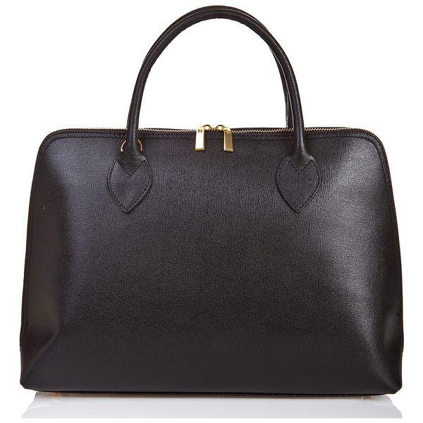 Černá kožená kabelka Massimo Castelli Liana