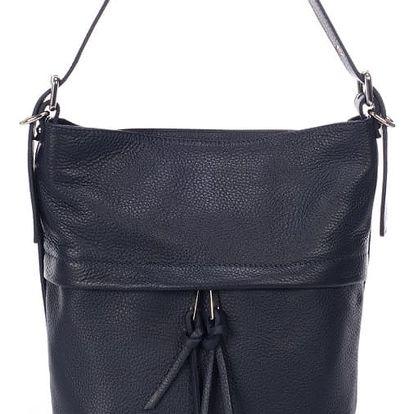 Tmavě modrá kožená kabelka Giorgio Costa Ravena