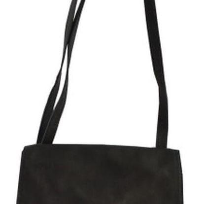 Černá kožená kabelka Chicca Borse Nana