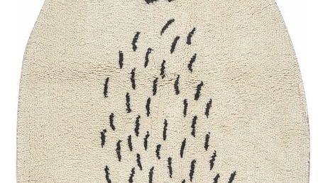 Koberec z bavlny ve tvaru medvídka Nattiot, 60 x 110 cm