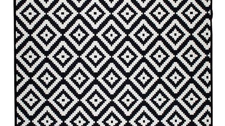 Černobílý oboustranný koberec Homedebleu Helen, 80 x 150 cm