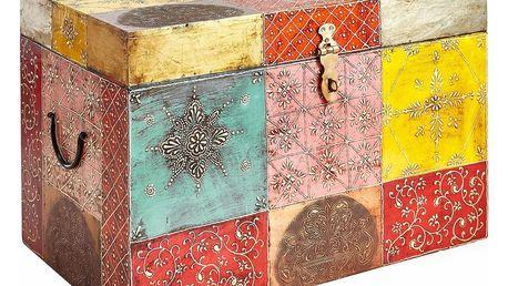 Barevná úložná truhla z mangového dřeva Støraa Vito